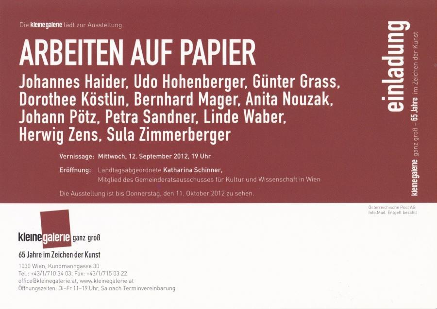 Arbeiten auf Papier - Kleine Galerie